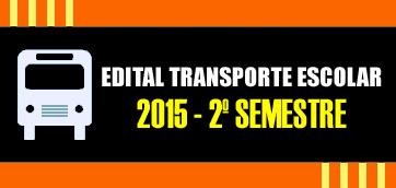 TRANSPORTE ESCOLAR 2015